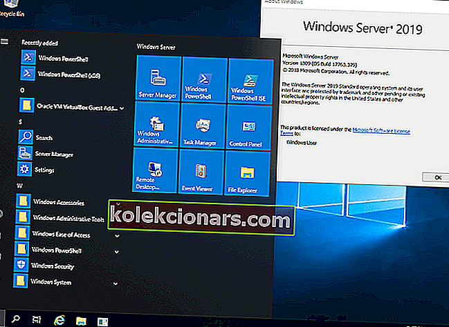 Náhled na Windows Server 2019