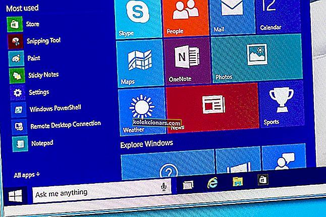 Windows 10 startknap fungerer ikke
