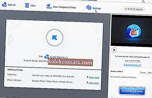 """WinX YouTube Downloader"" alternatyva ""keepvid"""