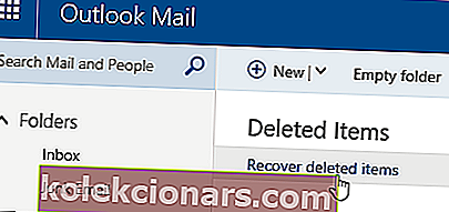 Outlook-e-mails er forsvundet